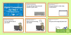 Digital Competence for Year 1 Challenge Cards English Medium English Medium