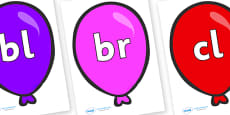 Initial Letter Blends on Party Balloons