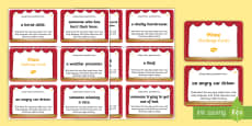 Mime Differentiated Role Play Challenge Cards