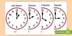 Posters d'affichage : Horloges analogues - L'heure