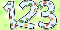 Small Display Numbers to Support Teaching on The Very Hungry Caterpillar