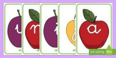 El abecedario de exposición: La fruta