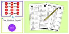 Year 2 Adding 2 Digit Numbers and Tens Crossed and Not Crossing 100 Lesson Teaching Pack
