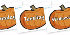 Days of the Week on Pumpkins