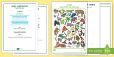 Jungle and Rainforest Quiet Time Box