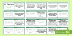 * NEW * CfE Third Level Health and Wellbeing (Personal and Social Education) Lanyard-Sized Benchmarks
