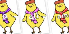 Foundation Stage 2 Keywords on Chicken Licken