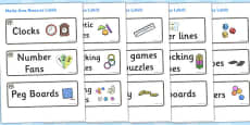 Elephant Themed Editable Maths Area Resource Labels