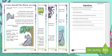 Year 2 Ronald the Rhino Differentiated Reading Comprehension Activity