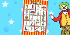 Circus Vocabulary Poster