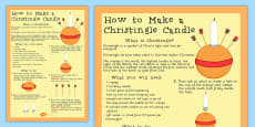 KS1 RE Christianity How to Make a Christingle Candle Craft Activity