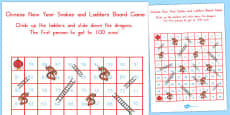 Australia - Chinese New Year Themed Snakes and Ladders Board Game 1-100