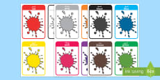 * NEW * Colour Flash Cards Arabic/English