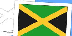 Jamaica Flag Display Poster