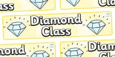 Diamond Themed Classroom Display Banner