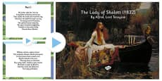 'The Lady of Shallot' by Alfred Lord Tennyson PowerPoint