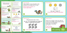 * NEW * Year 1 Treasures in the Garden Reasoning Differentiated Maths Challenge Cards