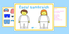 Irish Summer Clothes Dress Up Language Game Gaeilge