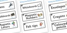Pukeko Themed Editable Writing Area Resource Labels