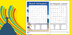 Rio 2016 Olympics Beach Volleyball Word Search