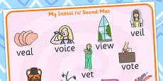 Initial v Sound Mat