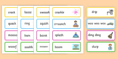 Onomatopoeia Word Cards