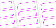 Flamingo Themed Editable Drawer-Peg-Name Labels (Blank)