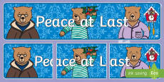Display Banner to Support Teaching on Peace at Last