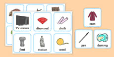 Materials Sorting Cards Activity