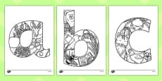 Lowercase Alphabet Themed Mindfulness Colouring Sheets