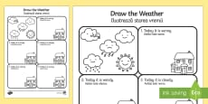 Draw the Weather Activity Sheet English/Romanian