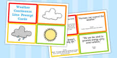Weather Continuum Line Prompt Cards