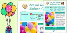 Balloon Cars Awe and Wonder Science Activity