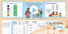 PlanIt Y1 Term 2B W3: Split Digraphs 'i-e' 'o-e' Spelling Pack