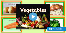 Vegetable Audio Flashcards