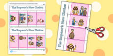 The Emperor's New Clothes Story Writing Flap Book