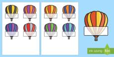 Editable Self Registration Labels (Hot Air Balloons)