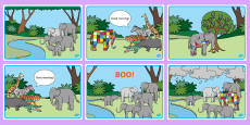 Australia - Story Sequencing Colour to Support Teaching on Elmer