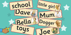 Word Cards to Support Teaching on Dogger
