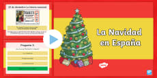 Christmas in Spain Information and Quiz PowerPoint - Spanish