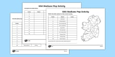 GAA Stadiums Map Activities