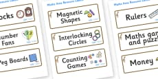 Giraffe Themed Editable Maths Area Resource Labels