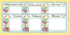 Pósters de calendario - Festividades y celebraciones