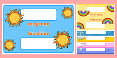 Editable Class Group Table Signs (Weather)