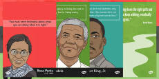 Black History Significant People Quote Posters