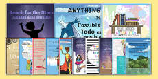 Motivational Posters Pack English/Spanish