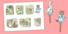 Beatrix Potter - The Tale of Tom Kitten Stick Puppets