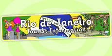 Rio de Janeiro Tourist Information Office Role Play Banner