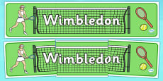 Wimbledon Display Banner
