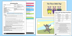 The Three Little Pigs Story Sequencing EYFS Adult Input Plan and Resource Pack